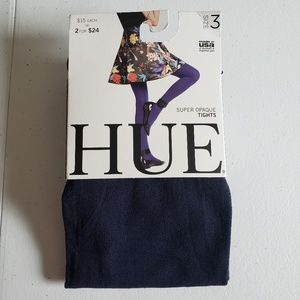 Hue Super Opaque Tights Navy 3